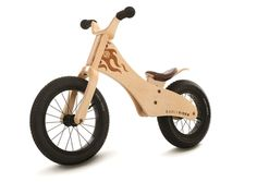 "Classic 12"" Balance #Bike -- For 2 - 4 1/2 year olds, this bike is pedal free and without training wheels! Kids sit and walk or run with the bike, pushing with their feet to develop balance."