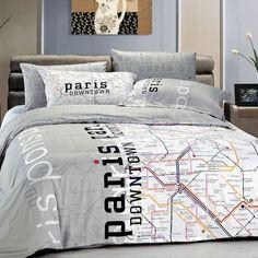 Le Vele Paris Map Duvet Cover Set
