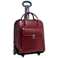 McKlein W Series La Grange Leather Vertical Detachable Wheeled Ladies' Briefcase