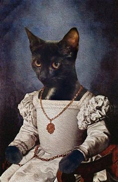 Portrait Art, Pet Portraits, Goth Art, Cool Pets, Art Challenge, Animal Party, Fabric Painting, Renaissance, Funny Cats