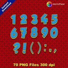 PATTE de patrouille Full Alphabet Clipart par ElectroPaper
