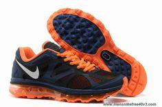 Light Midnight Metallic Silver Total Orange 487982-408 Mens Nike Air Max 2012 Sale