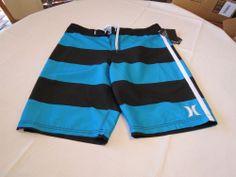 Hurley SHRALP boardshort swim trunks board shorts 32 cyan black MBS0001570 Men's #Hurley #BoardSurf