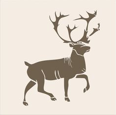 Stencils Buck Reindeer Stencil 5.5x4 Lodge by SuperiorStencils, $5.95