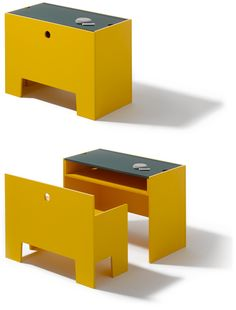 Another space saver. Table and Bench Wonderbox, designed by Richard Lampert