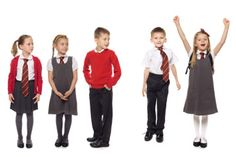 Private school for Autumn/future kids. Look how cute they are in little uniforms!