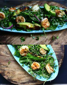 garlic shrimp salad