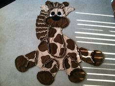 Giraffe Rag Fleece Blanket by Inspirationcreations on Etsy, $100.00