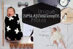 DIY Unique Birth Announcement Photoes