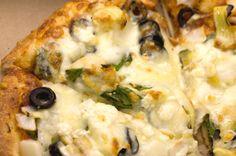 Gluten Free Spinach Artichoke PIzza