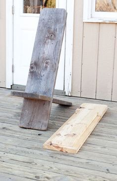 DIY outdoor chair made with one 2x12x8 board