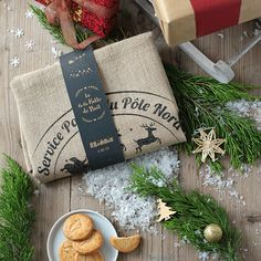 La hotte du père Noel personnalisable. #noel #noel2017 #enfants #cadeauxnoel #cadeau #noeldeco