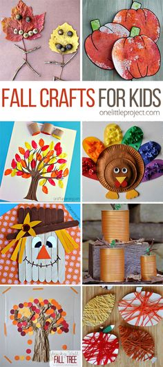These fall crafts for kids are wonderful! I'm always amazed how creative people are! There are lots of great ideas here that the kids are going to LOVE. (autumn activities for kids eyfs) Fall Crafts For Kids, Autumn Crafts, Thanksgiving Crafts, Holiday Crafts, Art For Kids, Kids Diy, Baby Fall Crafts, Fall Toddler Crafts, Autumn Leaves Craft