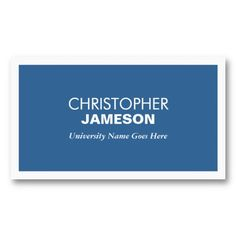 21 best business cards for college and university students images on modern blue business card for college students colourmoves
