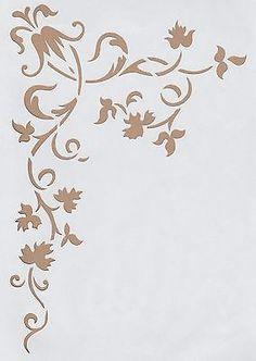 Wandschablonen Schablone Wandtattoo Ornament Ecke XL