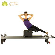 dolphin pilates reformer exercise start position