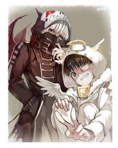 shironeki and kuroneki #anime