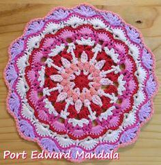 Zooty Owl's Crafty Blog: Seaside Winter Blanket:   Port Edward Mandala