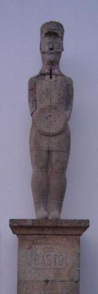 Lusitanos –O Basto estatua de guerrero galaico-lusitano de Século I a.C.