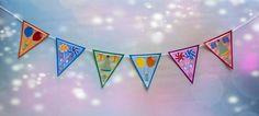 Natürlich darf bei einer Party die passende #Deko nicht fehlen. Konfetti, Girlanden und lustige Hütchen sind der Klassiker auf Geburtstagsfeiern. Doch es muss nicht immer gekaufter Tand sein, der Ihre Wohnung erstrahlen lässt. Mit ein paar einfachen Handgriffen und unserer exklusiven Bastelvorlage für eine #DIY-Wimpelkette können Sie ganz einfach die #Party-Deko selbermachen!