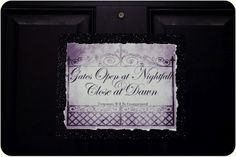 The Night Circus Opening Sign