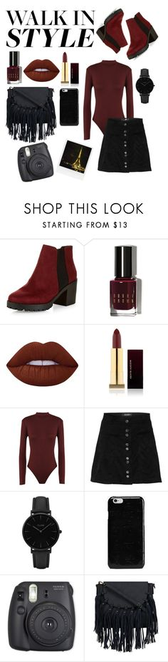 """""""Walk in style with chelsea boots"""" by taylorr-gray ❤ liked on Polyvore featuring New Look, Bobbi Brown Cosmetics, Lime Crime, Kevyn Aucoin, WearAll, CLUSE, Polaroid, Maison Margiela and Fuji"""