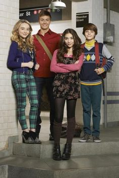 Carpenter, Meyer, Blanchard and Fogelmanis in the new Disney Channel series, which is set in New York City--Girl Meets World Riley Matthews, Girl Meets World Riley, Girl Meets World Cast, Disney Channel Shows, Disney Shows, Sabrina Carpenter, Riley And Lucas, Riley And Farkle, Cory And Topanga
