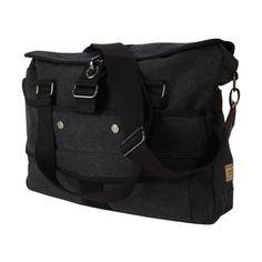 A Kurtz Cottonwood Messenger ($95) ❤ liked on Polyvore featuring bags, messenger bags, black, chevron messenger bag, canvas backpack, courier bag, backpack messenger bag and laptop backpack