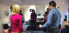 La sophrologie en entreprise dans un reportage du 20h de France 2 > Sophrologie-actualite.fr, toute l actualité de la sophrologie  Le bien-être fut au sommaire du 20h de France 2 du 04 janvier 2014. Le reportage diffusé présenta une séance de sophrologie dans les locaux d'une entreprise.