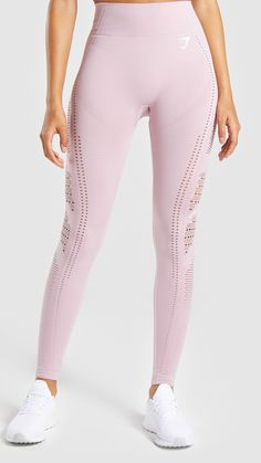 7c5a8908afadd Gymshark Flawless Knit Tights - Washed Lavender