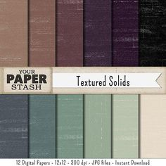 Textured Digital Paper Backgrounds, Neutral Digital Scrapbook Paper, Scrapbooking Paper Designs Masculine Distressed Commercial Use Download