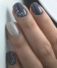 Party Nail Designs Idea new lovely nail art designs to look beautiful on party Party Nail Designs. Here is Party Nail Designs Idea for you. Party Nail Designs sparking new years party nails classic nail art design nail. Gorgeous Nails, Pretty Nails, Pretty Short Nails, Short Nails Art, Gel Nagel Design, Bridal Nail Art, Nails 2018, Glitter Nail Art, Gray Nail Art