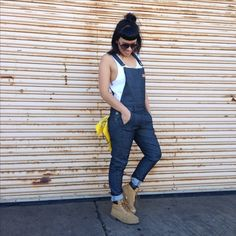 Work Overalls/Dungarees - slim leg and stretch denim Work Overalls, Work Shorts, Denim Overalls, Dungarees, Work Pants, Jeans, Professional Wardrobe, Denim Cotton, Work Jackets