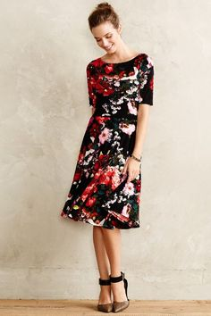 Photostat Floral Dress - anthropologie.com