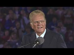 When God Gets Your Attention   Billy Graham Classic - YouTube Pray For America, God Bless America, Dr Billy Graham, Matthew 10 22, I Am The Door, Water Baptism, Billy Graham Evangelistic Association, Acts 3, Revelation 2
