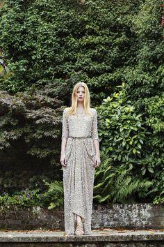 Chana Marelus evening wear - long gold dress