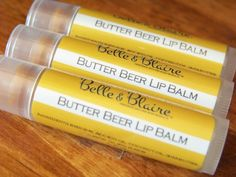 Butter Beer Lip Balm- Harry Potter Inspired. Another favor idea