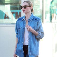 Stuck in a jeans and t-shirt rut? Get inspired by our gallery of the best denim looks worn by celebrities.
