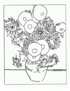 coloring pages of famous artwork
