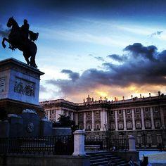 Palacio Real y plaza de Oriente