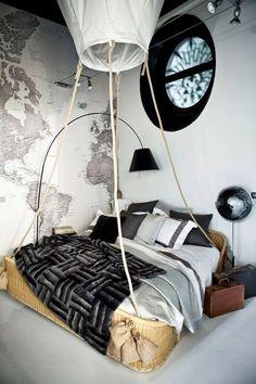Hot air balloon bed