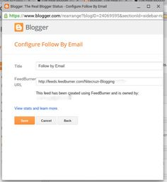 """The """"Follow by Email"""" gadget uses FeedBurner email. For timely delivery of new posts, learn how to schedule delivery."""