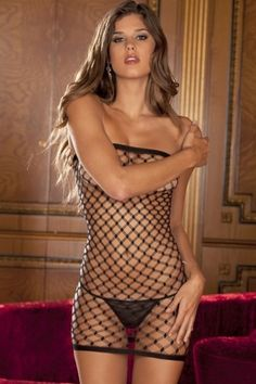 Diamond Net Tube Dress in OS