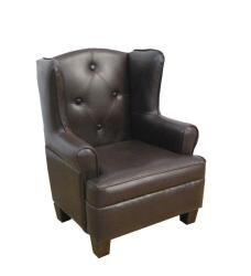Incroyable Luxury Toddler Kidu0027s Brown Faux Leather Wingback Chair