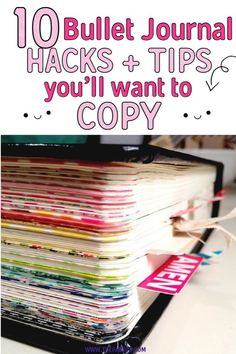 These bullet journal ideas are THE BEST! I'm so happy I found these GREAT bullet journal tips! Now I have some great bullet journal hacks that I can use! organization tips 10 Bullet Journal Hacks You'll Want To Steal - Bullet Journal Inspo, Bullet Journal Wishlist, Minimalist Bullet Journal, How To Bullet Journal, Bullet Journal Ideas Pages, Bullet Journal Spread, Bullet Journal Layout, Journal Pages, Bullet Journal Project Planning