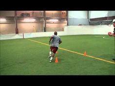 Football receiver moves - cuts turns  and quickness