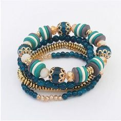 Gorgeous Bohemian Style Bead Bracelets For Women Durable Toggle-Clasps Stretch Beaded Bracelets Special Discounted Price! Only Available For A Limited Time! #braceletsfor