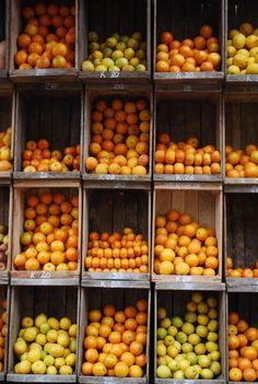 Puesto de naranjas y limones. Mercado de Montevideo