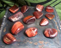 Hey, I found this really awesome Etsy listing at https://www.etsy.com/listing/183428586/one-red-tiger-eye-tumbled-stone-red