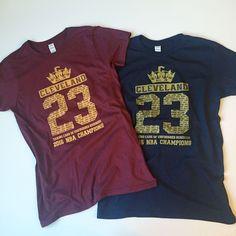 97218f360 2016 NBA Champions Cleveland Cavaliers WOMEN s T-shirt Lebron James 23 Cavs  tee